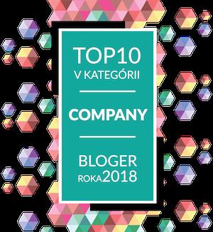 TOP10 v kategórií company - bloger roka 2018
