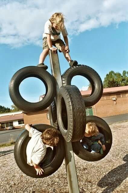 Detské ihrisko z pneumatík