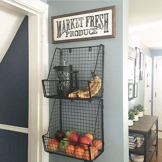 Úložný priestor v kuchyni - košík na ovocie