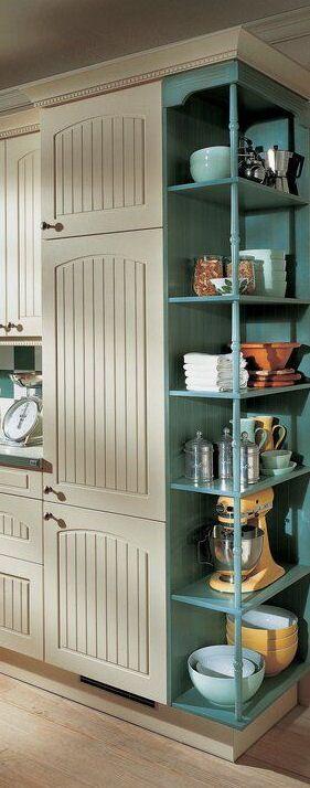 Úložný priestor v kuchyni - regál v skrinke