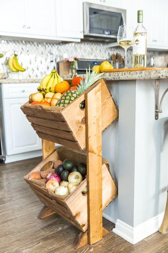Úložný priestor v kuchyni - debničky