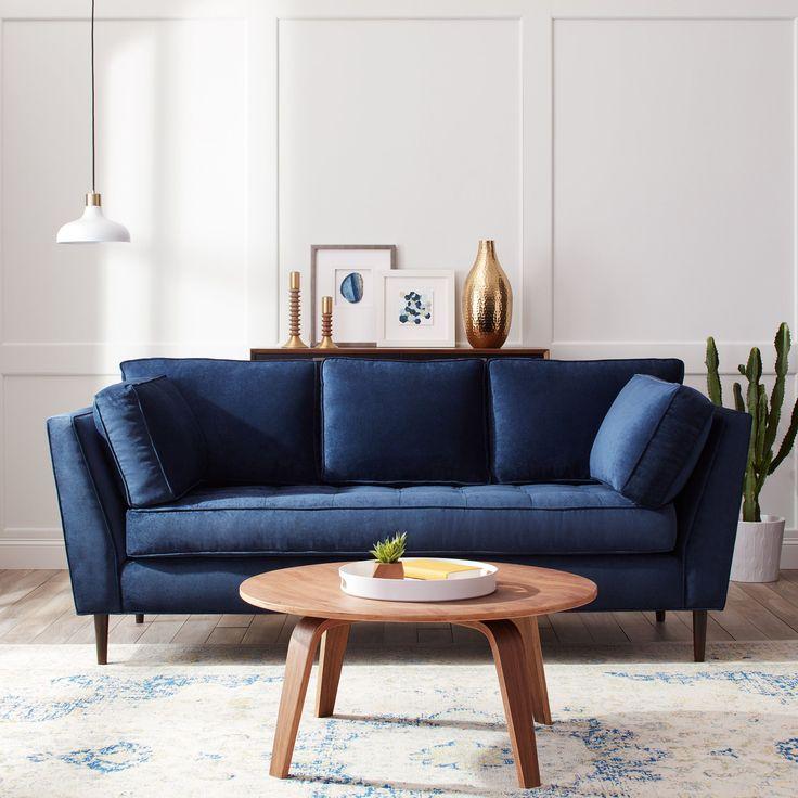 Námornícka modrá a biela v obývačke