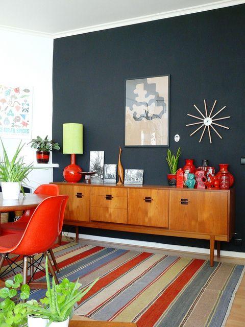 Farebná retro obývačka