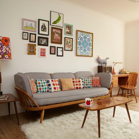 Obývačka v štýle retro