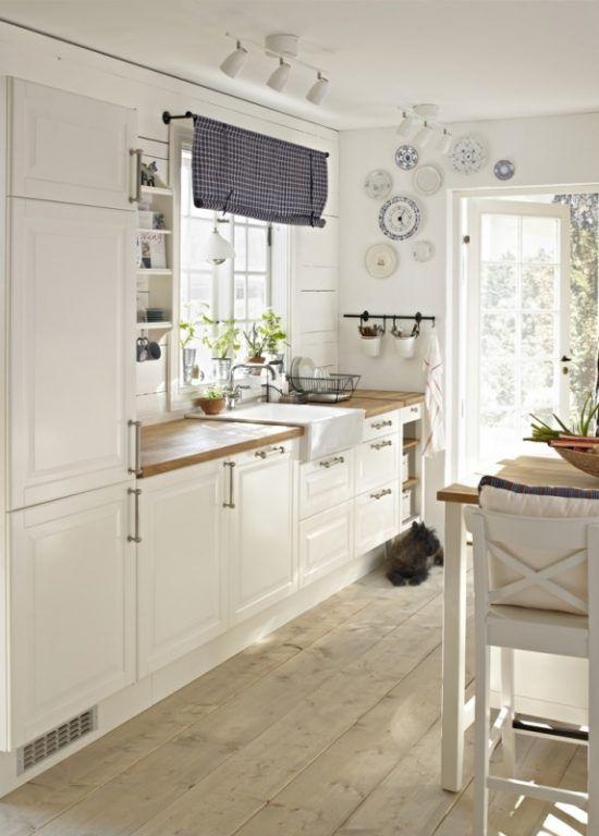 Rustikálna biela kuchyňa