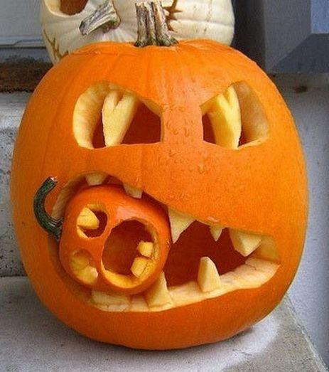 Vyrezávané Halloween tekvice