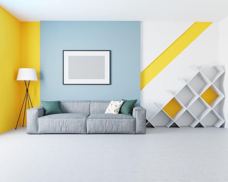 Obývačka ladená do žlta