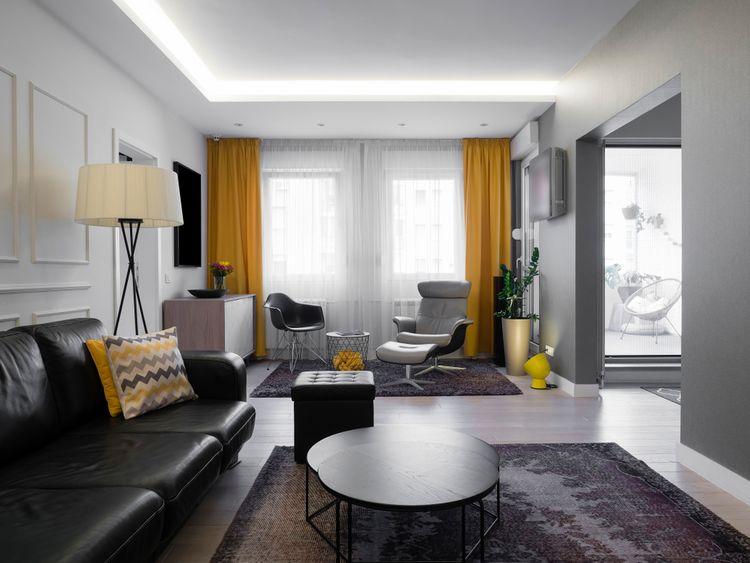 Žlté závesy do obývačky
