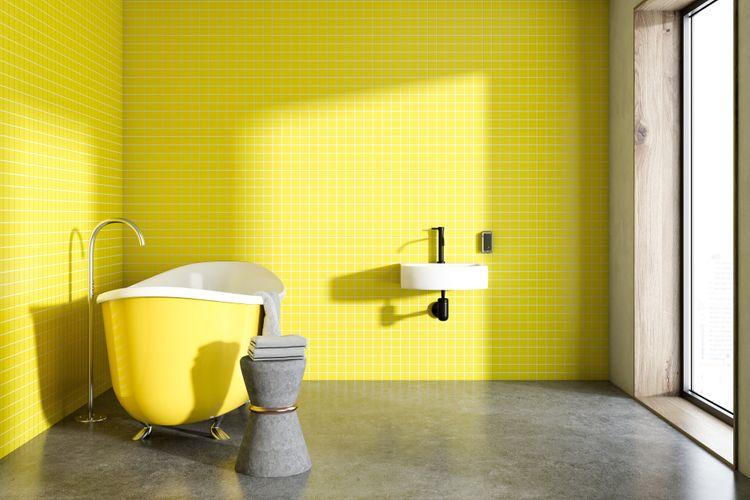 Do žlta ladená kúpeľňa
