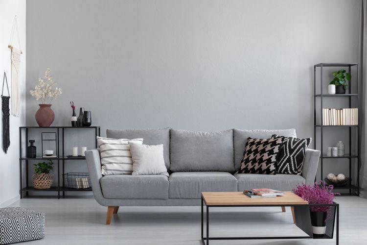 Obývačka ladená do siva