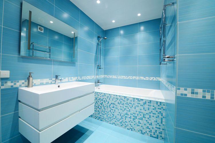Kúpeľňa ladená do modrej