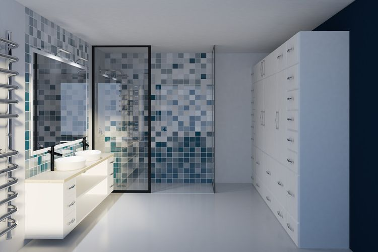 Kúpeľňa v modrej