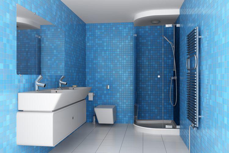 Modrá farba v kúpeľni
