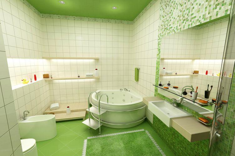 Zelená v kúpeľni