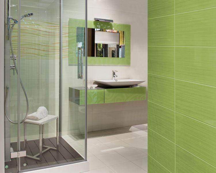Zelené kúpeľňové doplnky