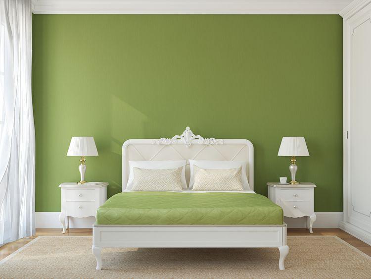Zelená v spálni