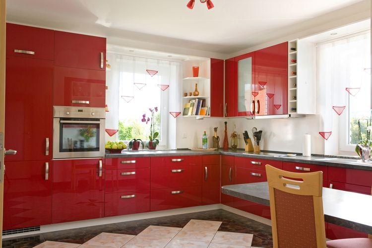 Červená v kuchyni