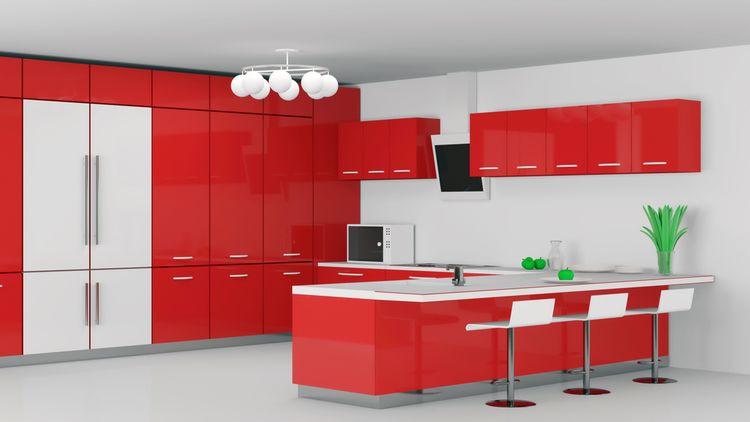 Červeno-biela kuchyňa