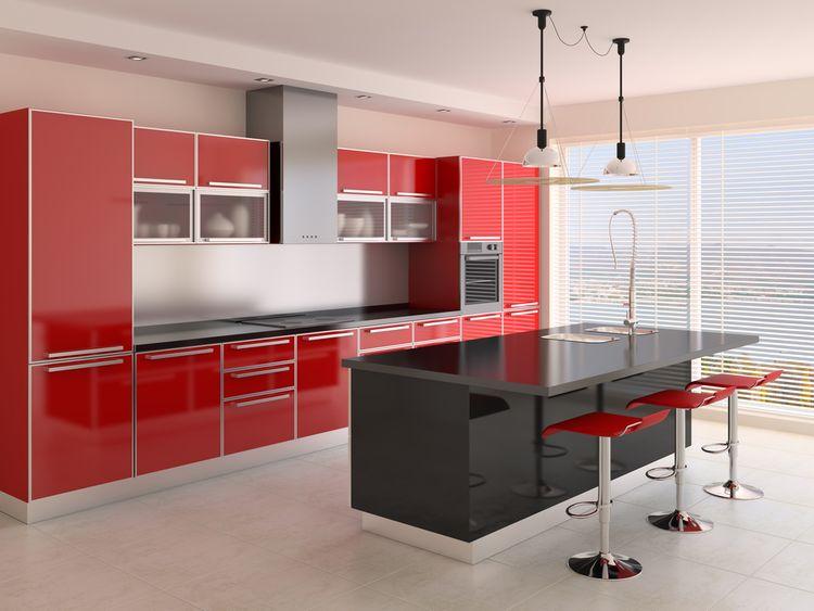 Kuchyňa ladená do červenej