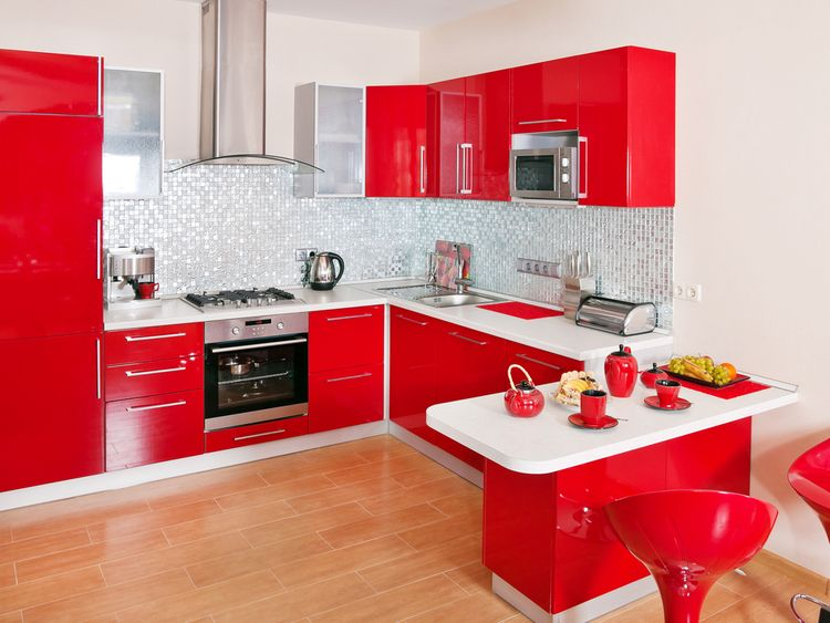 Žiarivočervená kuchyňa