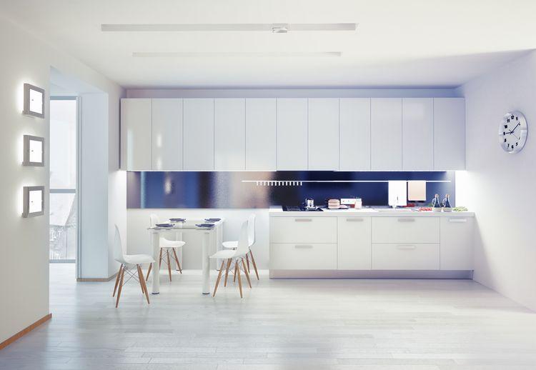 Bielo-modrá kuchyňa