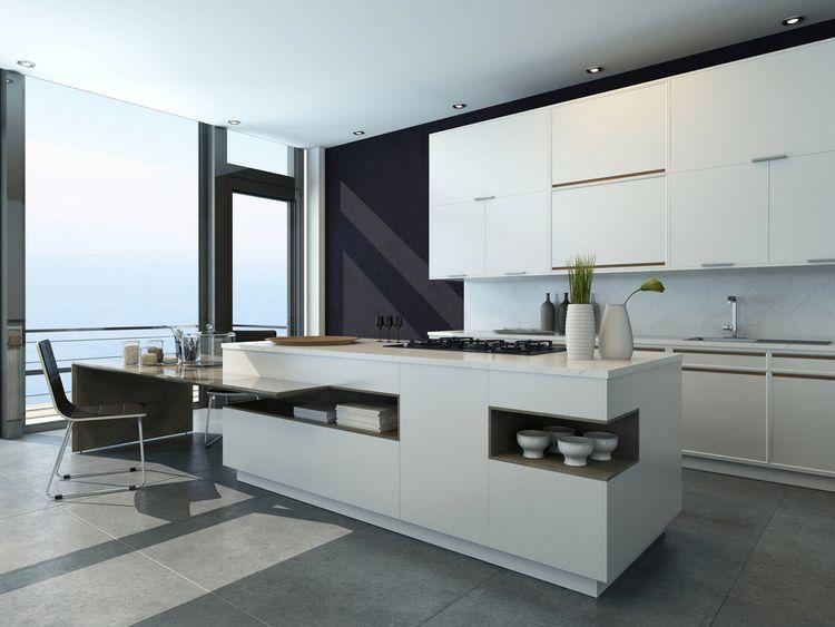 Bielo-sivá kuchyňa
