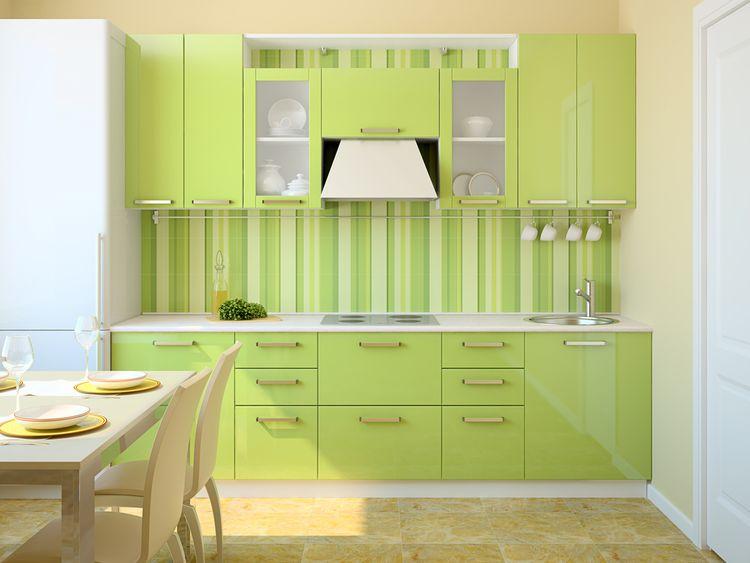 Malá zelená kuchyňa