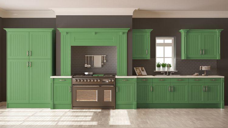 Retro zelená kuchyňa