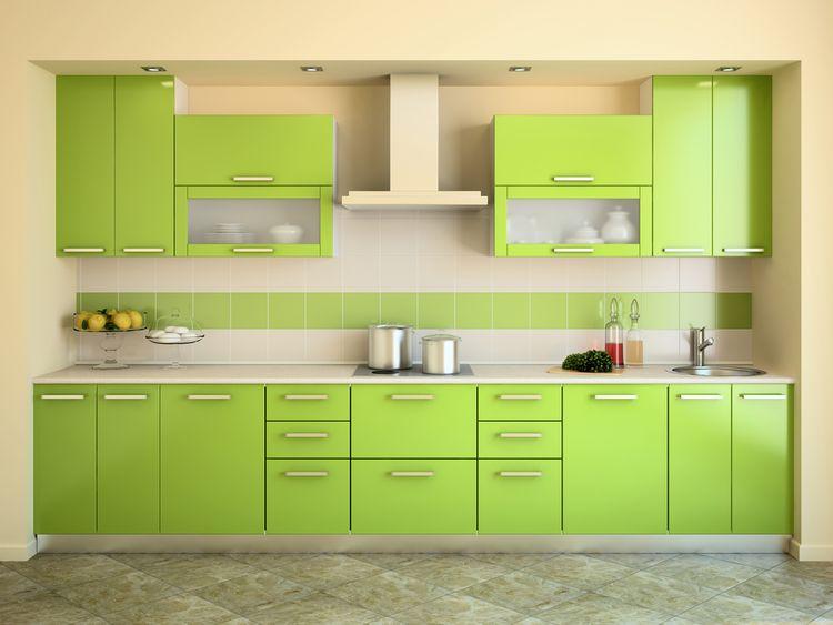 Svetlozelená kuchyňa