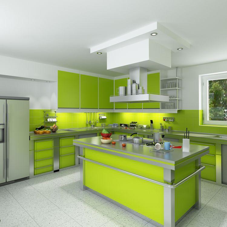 Výrazne zelená kuchyňa