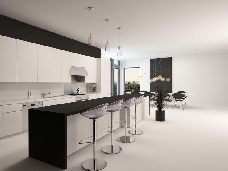 Čierno-biela kuchyňa