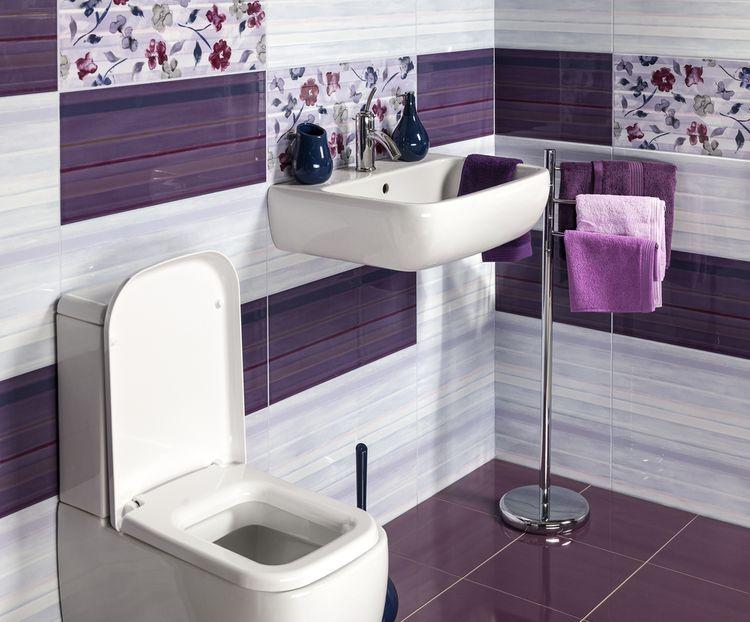 Kúpeľňa ladená do fialova
