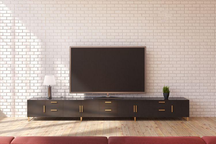 Čierna skrinka pod TV