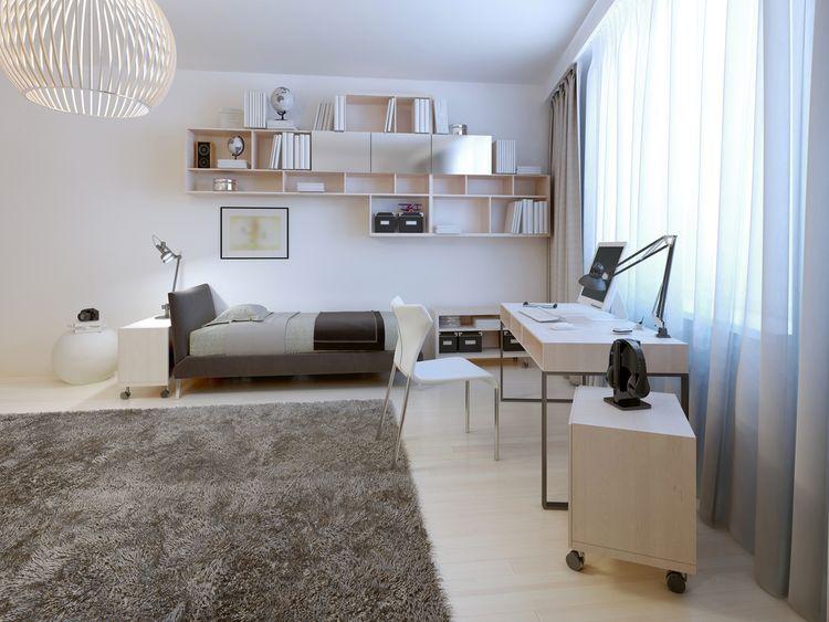 Hnedo-biela študentská izba