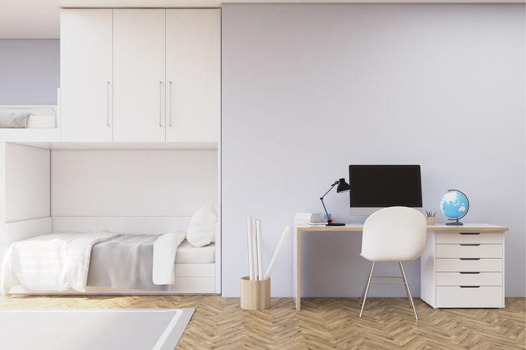 Sivo -biela študentská izba