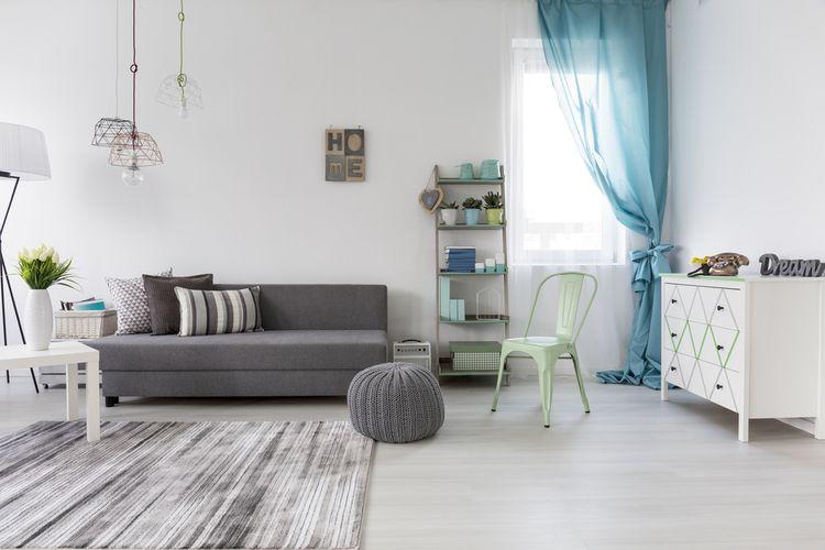 Sivo-modrá študentská izba