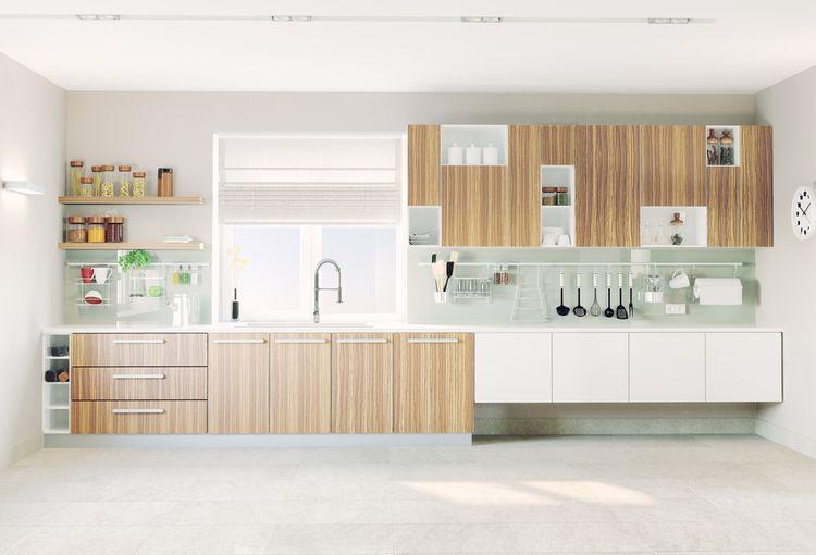 Jednoduchá drevodekor kuchyňa