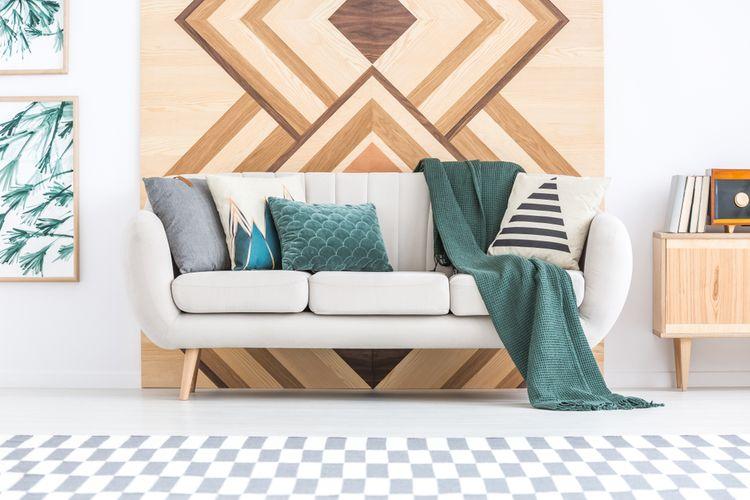 Geometrické vzory v obývačke