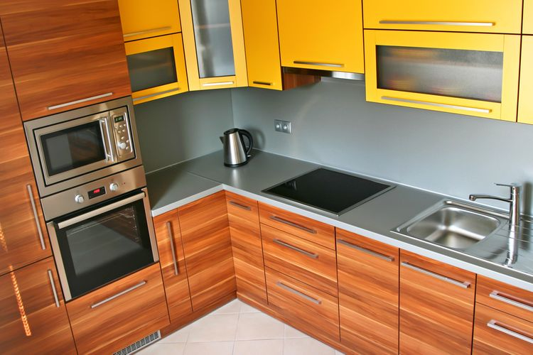 Žlté kuchynské linky