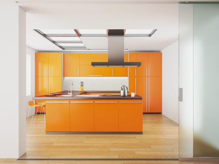 Oranžová kuchyňa