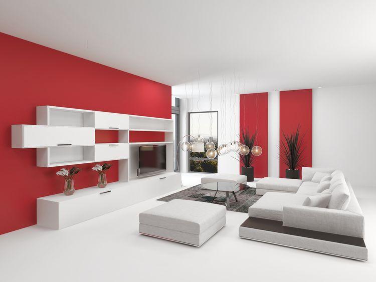 Červená v obývačke