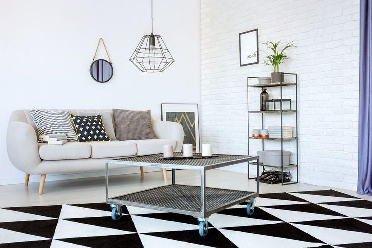Wire lampa v obývačke