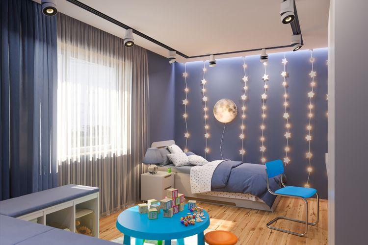 Chlapčenská detská izba s hviezdami