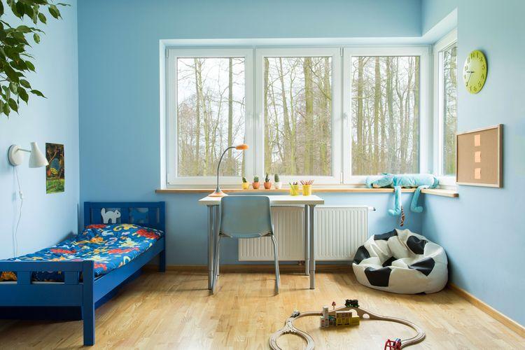 Modrá detská izba pre chlapca