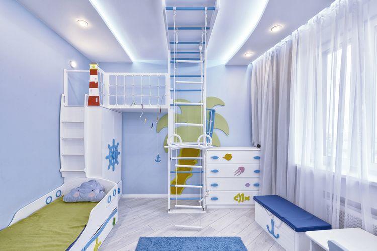 Modrá detská izba