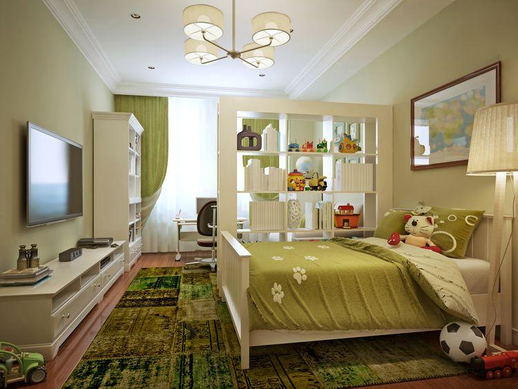 Zelená detská izba
