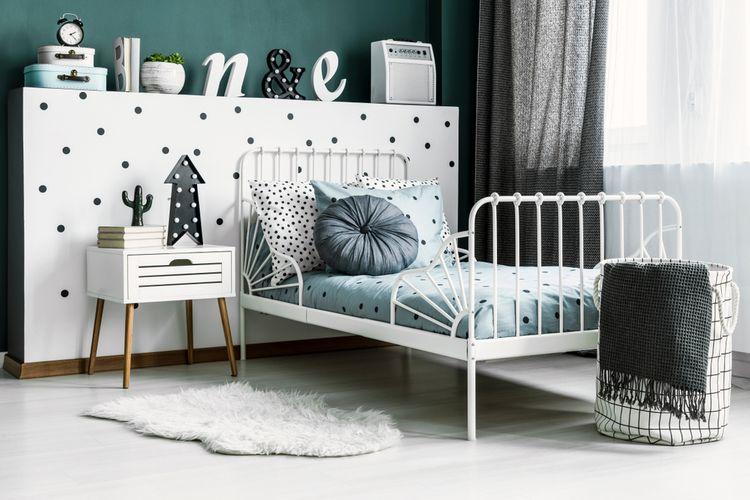 ČIerno-biela detská izba