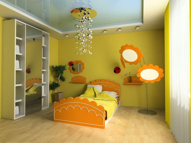 Žltá detská izba