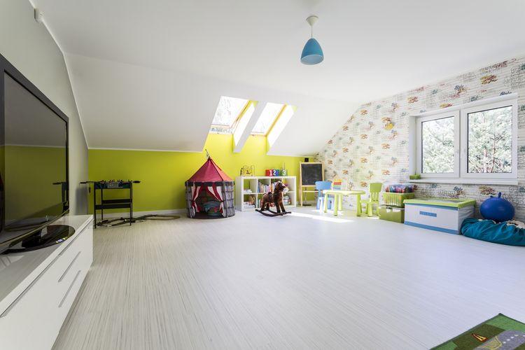 Priestranná detská izba v podkrovi