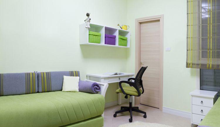 Detská izba ladená do zelenej